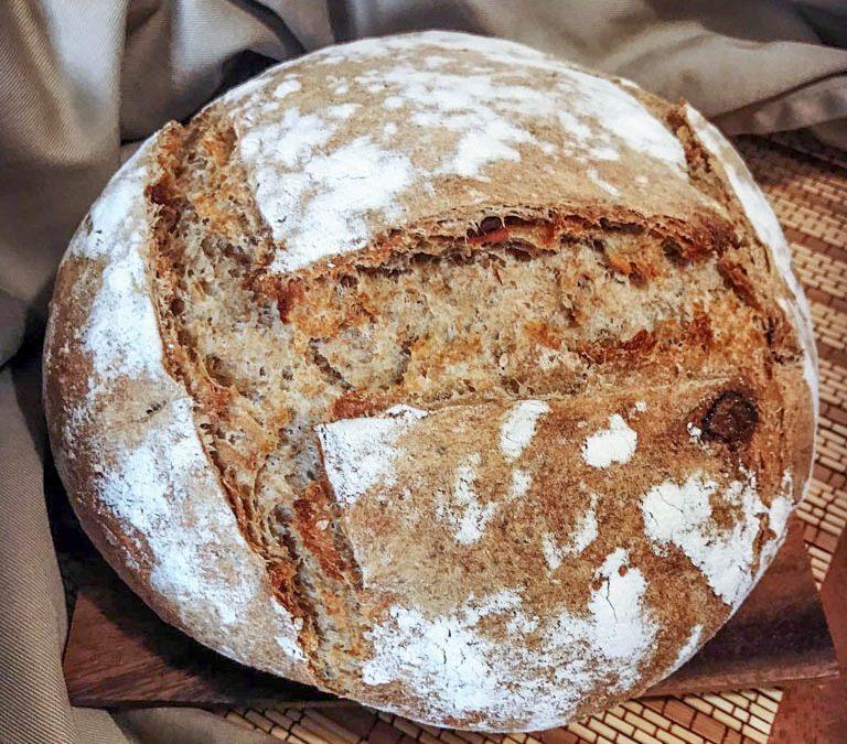 Pan con masa madre, receta de pan casero