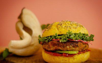 Hamburguesa vegetariana de setas, receta fácil y deliciosa
